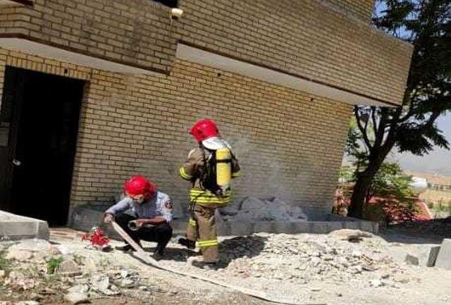برگزاری مانور اطفای حریق نیروهای آتش نشانی در یاسوج