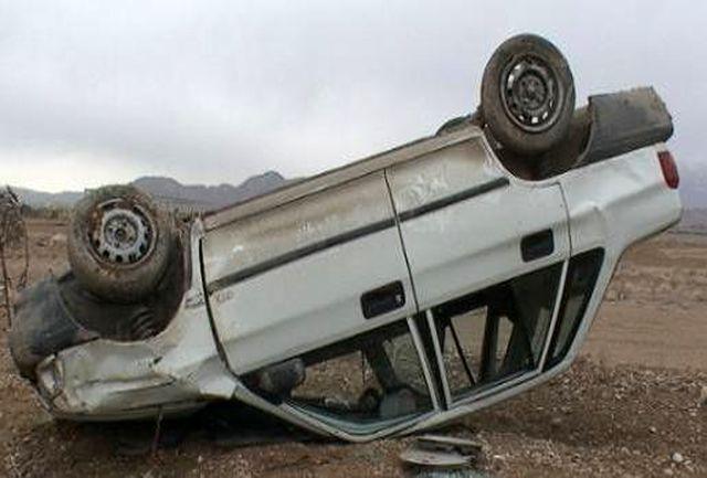 واژگونی پراید با یک کشته و 3 مجروح در یزد