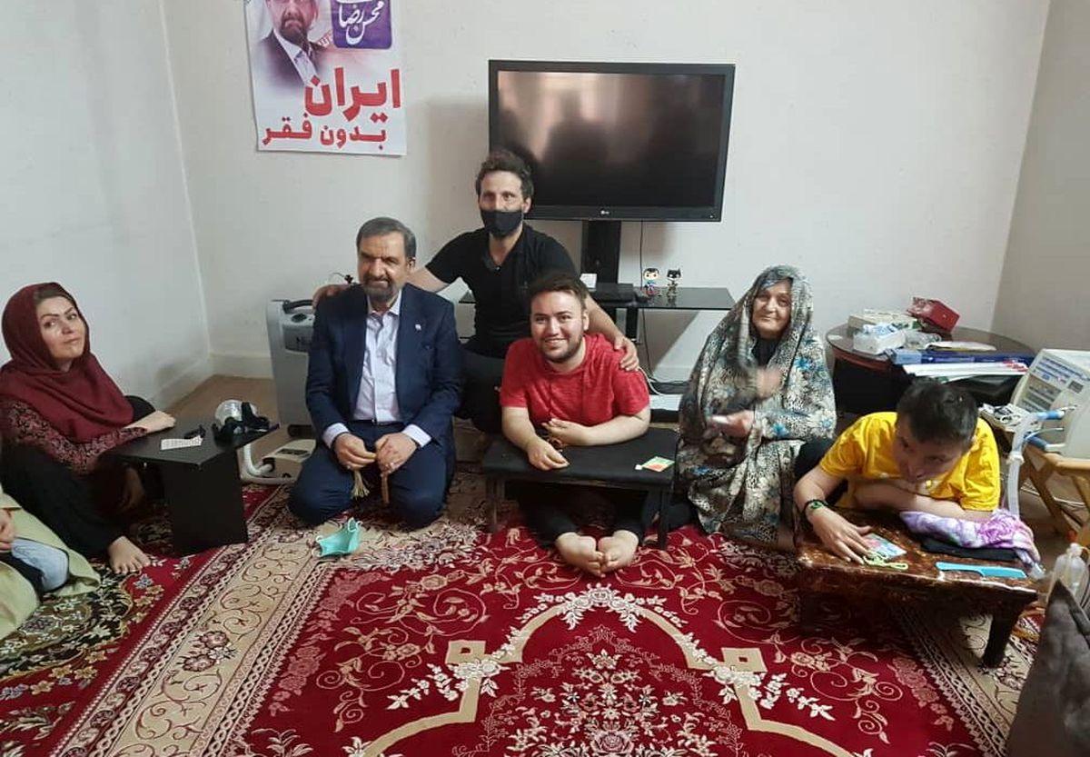 ویدئوی یک معلول باعث سفر محسن رضایی به قزوین شد