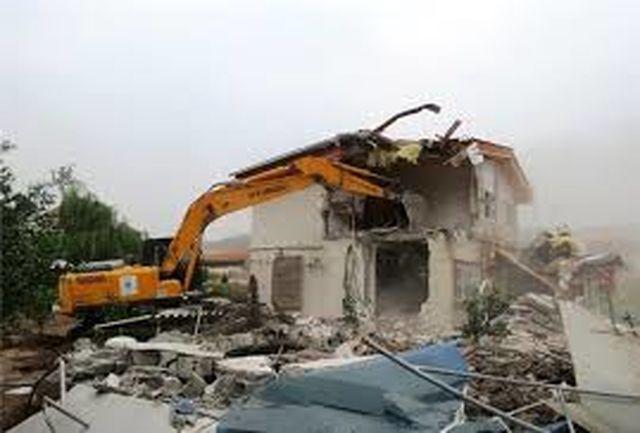 تخریب ساختوسازهای غیرمجاز در بیلهسوار