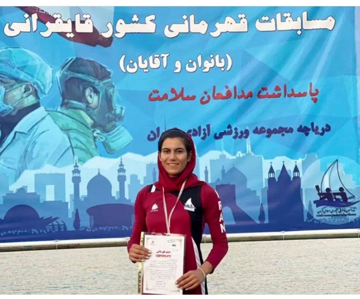نایب قهرمانی بانوی قایقران ارومیهای در مسابقات قهرمانی کشور