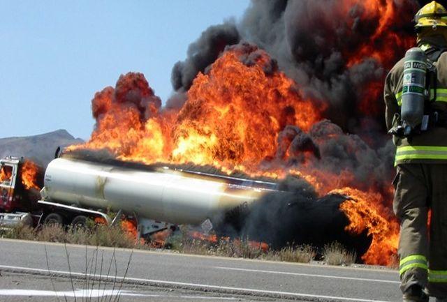 حادثه برای تانکر گاز کلر/آمار مجروحین به 100 نفر رسید/اعزام بالگردهای هلال احمر به منطقه