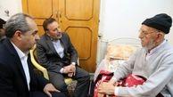 رئیس دفتر رئیس جمهوری از آیت الله امینی عیادت کرد