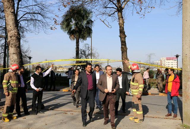 اقدامات ستاد بحران شهرداری لاهیجان پس از وزش باد شدید