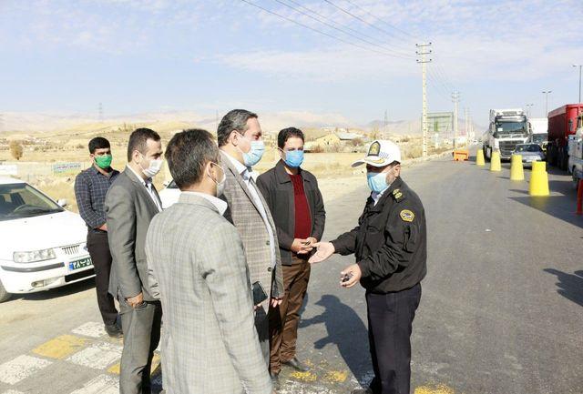 بازدید فرماندار فیروزکوه از روند اعمال محدودیت تردد خودروهای بومی و غیربومی