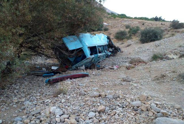 ۲۱  کشته و زخمی بر اثر سقوط مینی بوس به دره