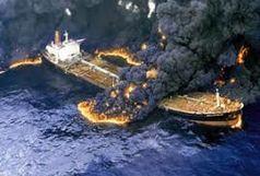 لحظات اولیه برخورد کشتی چینی با نفتکش سانچی و انفجار/ ببینید