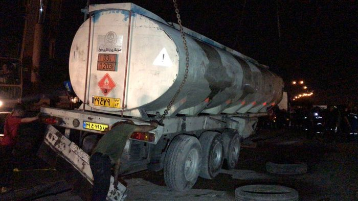 عملیات چهار ساعته 125 برای مهار تانکر حامل گازوییل
