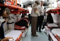 انتقال ۱۱ زایر مصدوم حادثه واژگونی خودرو ون در نزدیکی بصره به بیمارستان های اروند/اسامی مصدومان