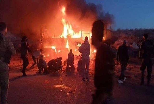 تروریست ها در حمله به یک اتوبوس در سوریه ۶ غیرنظامی را کشتند