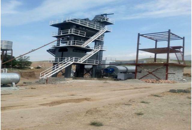 پلمب دو واحد کارخانه آسفالت در منطقه معادن شهرستان قدس