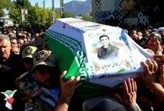 پیکر شهید حادثه تروریستی اهواز در خرم آباد تشییع شد