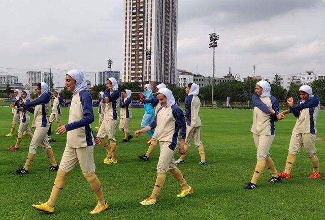 حضور تیم فوتبال نوجوانان بانوان در تورنمنت کافا