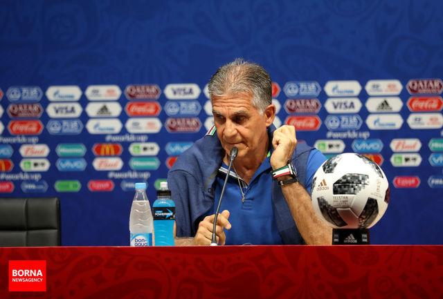 کیروش: بازی با عراق همیشه مهم بوده است/ در نیمه دوم بازی با ویتنام کمی عصبانی بودیم