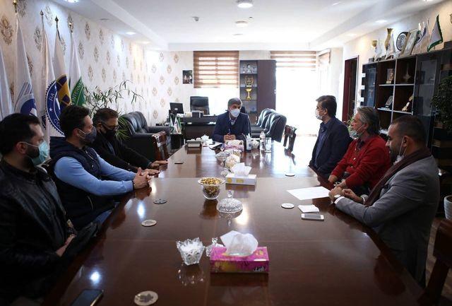 جلسه سرپرست فدراسیون با رئیس و اعضای هیات موتورسواری و اتومبیلرانی شهرک فرودگاهی