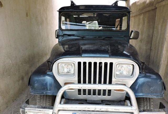 کشف بیش از  110کیلو تریاک در سقف خودرو جیپ
