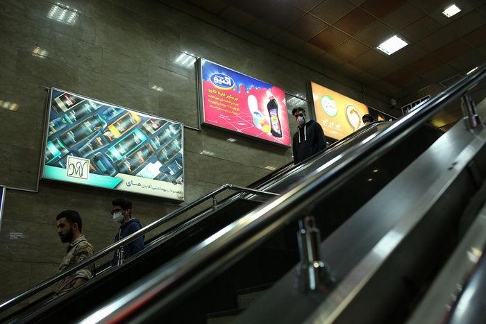 ازدحام جمعیت در مترو تهران+ فیلم