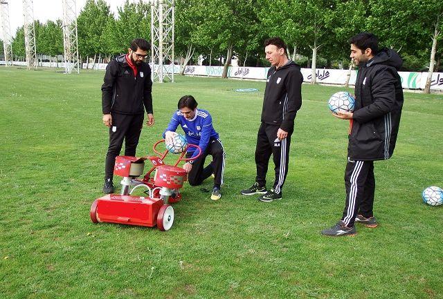 دستگاه تخصصی شوتزنی سرعتی در اختیار تیم ملی فوتبال قرار گرفت