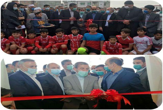 سالن ورزشی اصفهانکلاته  گرگان و چمن مصنوعی آق قلا به بهره برداری رسید