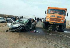 6 کشته و مصدوم درپی تصادف کامیون با خودروی سواری