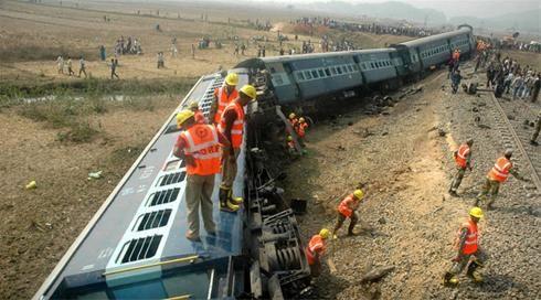 خارج شدن قطار از ریل