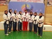 رقابت دختران تکواندوکار استان خراسان جنوبی در مسابقات پومسه(اجرای فرم) قهرمانی کشور