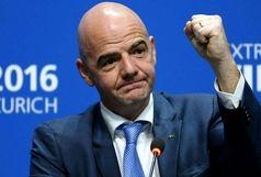 رئیس فیفا تماشاگر ویژه بازی ایران- اسپانیا
