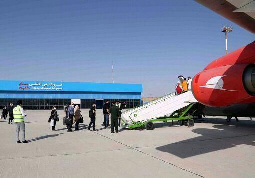 خط پروازی کرج-کیش در فرودگاه پیام برقرار شد