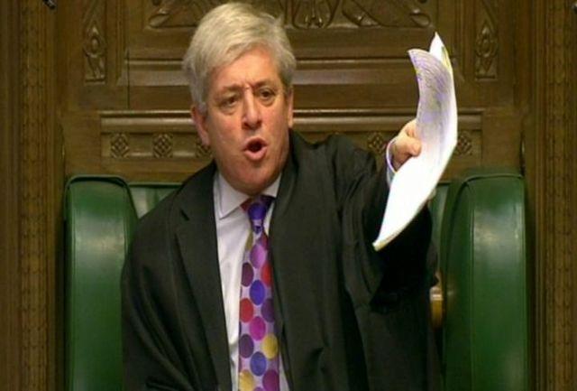 رئیس پارلمان بریتانیا مانع رایگیری درباره توافق برگزیت شد