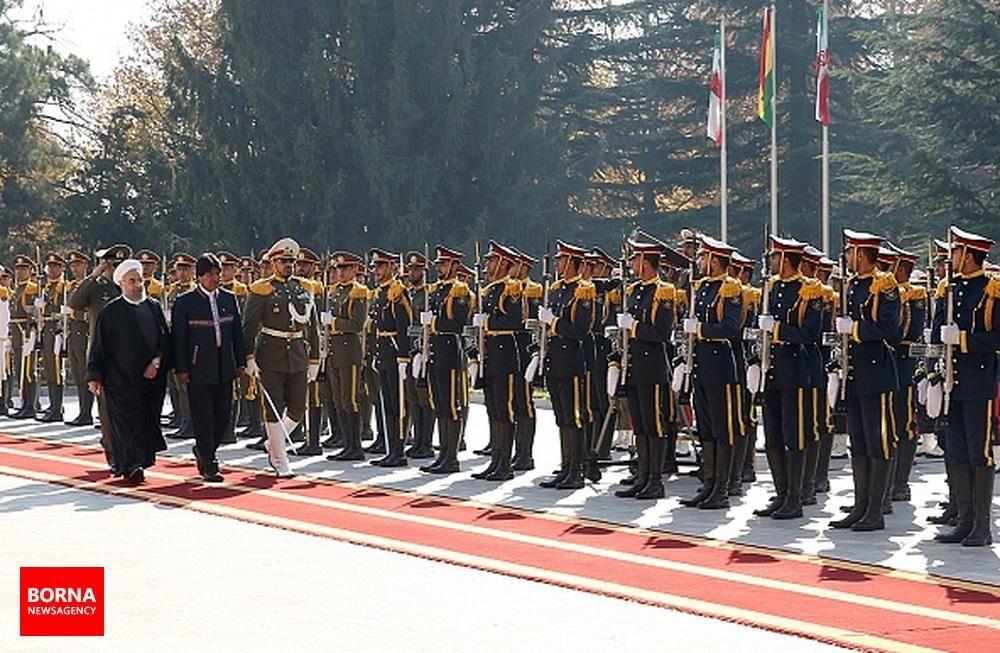 استقبال+رسمی+دکتر+روحانی+از+رئیسجمهور+بولیوی