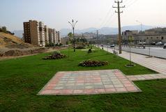18 هزار متر مربع فضای سبز در بلوار انتظام سنندج احداث شد