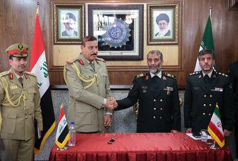 امضای تفاهم نامه همکاری مابین فرمانده مرزبانی ناجا با هیات نظامی عراق