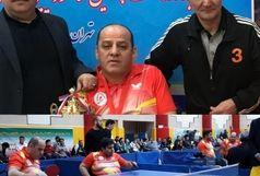 نایب قهرمانی آذربایجانغربی در مسابقات تنیسرویمیز جانبازان و معلولین کشور