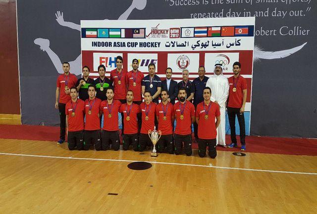 تبریک کمیته ملی المپیک به قهرمانی تیم ملی هاکی سالنی در آسیا
