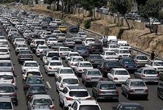 ترافیک سنگین در راه های مواصلاتی به تهران