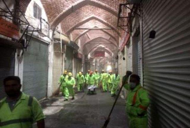 اجرای شبانه روزی طرح تنظیف بازار در عزاداری های ایام محرم