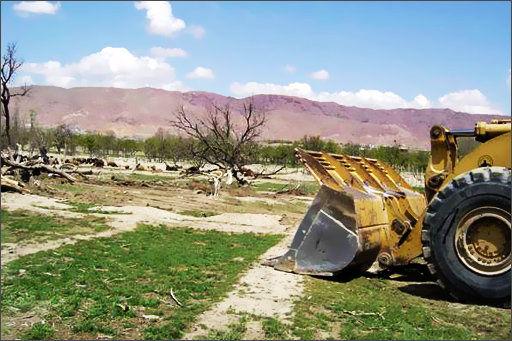 ماشینآلات تخریبکننده باغات توقیف میشوند