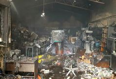 فوت زن 30 ساله و سه مصدوم حاصل آتش سوزی در کارگاه تولید پلاستیک+ببینید