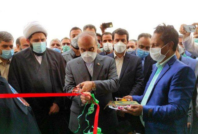 افتتاح سالن چند منظوره ورزشی شهید ثقفیفر روستای غنی آباد در خراسان جنوبی