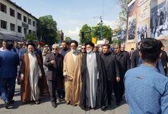 حضور امام جمعه تبریز در مراسم تشییع پیکر امام جمعه سابق ارومیه