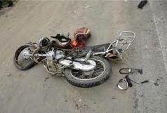 به کما رفتن موتورسوار 30 ساله به علت سرعت بالا و تصادف با تیر چراغ