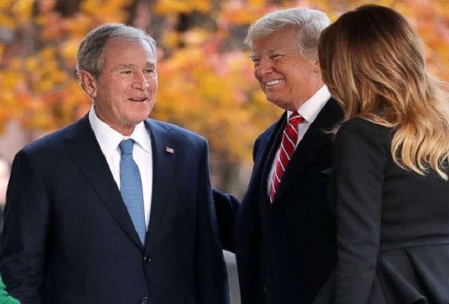 جرج بوش از حق اعتراض ترامپ دفاع کرد