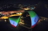 پرچم جمهوری اسلامی ایران در باکو به نمایش درآمد