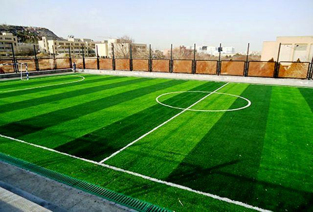 آیین افتتاح و بهره برداری از زمین چمن شهر ماژان با حضور معاون وزیر ورزش