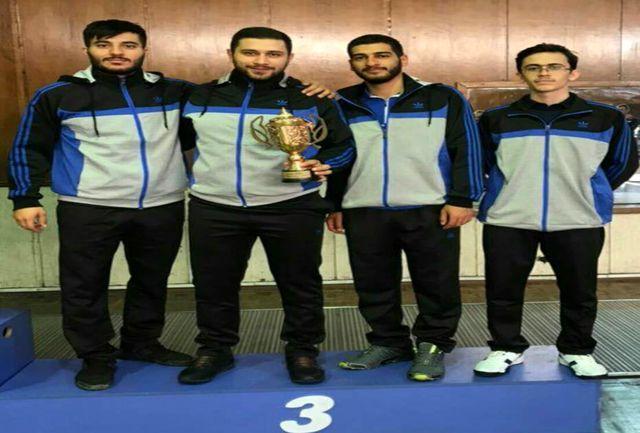 شمشیربازان آذربایجانشرقی بر سکوی سوم کشور ایستادند