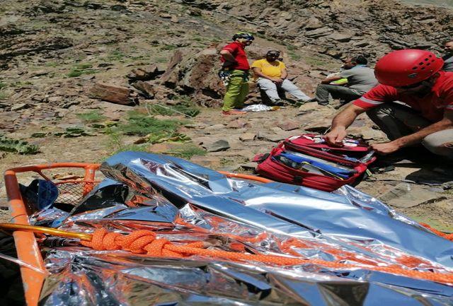 امداد هوایی و نجات مرد ۵۰ ساله در ارتفاعات دارآباد استان تهران