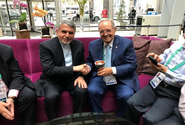 دیدار صالحی امیری با رئیس فدراسیون جهانی تیراندازی