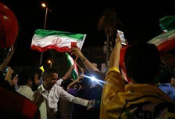 جشن پیروزی تیم ملی فوتبال ایران برابر مراکش در آبادان