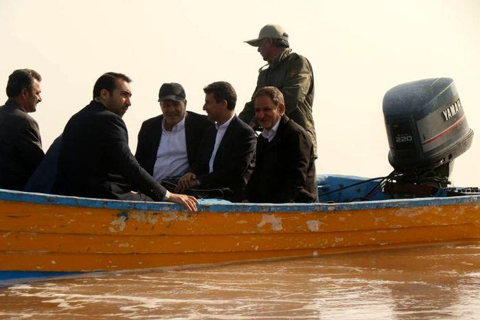 بازدید جهانگیری از پروژههای احیای دریاچه ارومیه