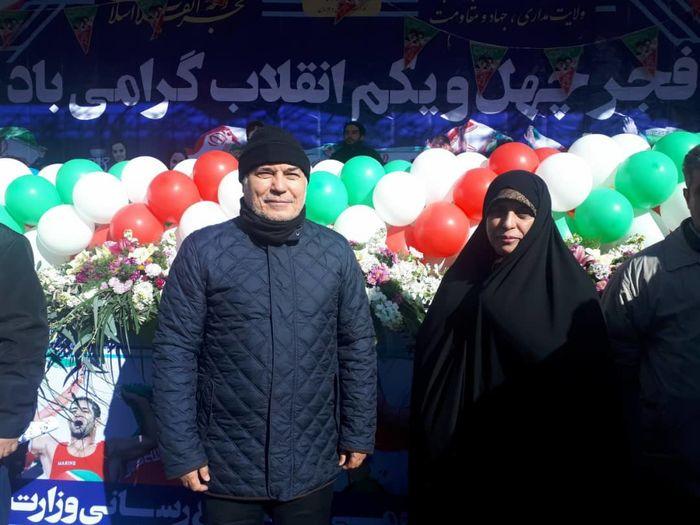 فرهادیزاد و تقیزاده در مراسم راهپیمایی 22 بهمن شرکت کردند